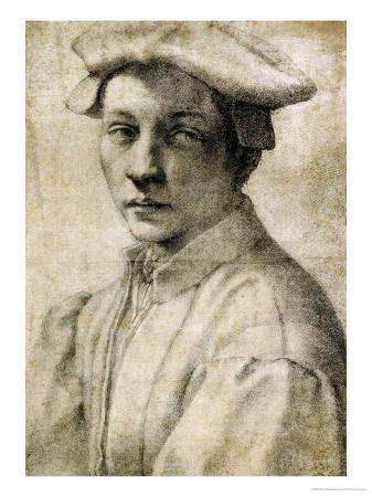 Portrait of Andrea Quaratesi, Around 1532, Black Chalk on Paper