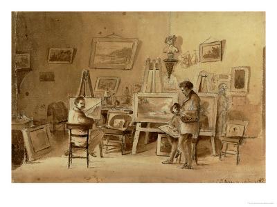 The Artist's Studio, Caracas, Venezuela, 1854