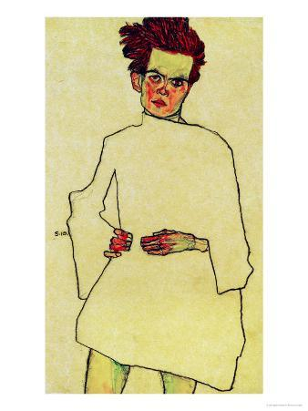 Selfportrait with Shirt, 1910
