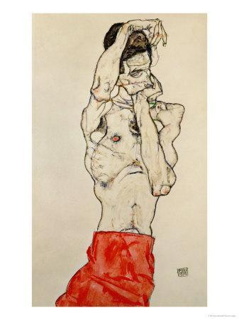 Standing Male Nude with Red Loincloth, 1914