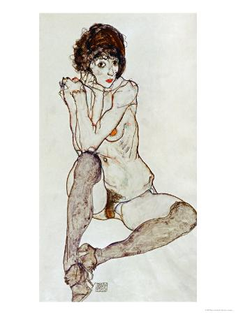 Seated Female Nude, Elbows Resting on Right Knee, 1914