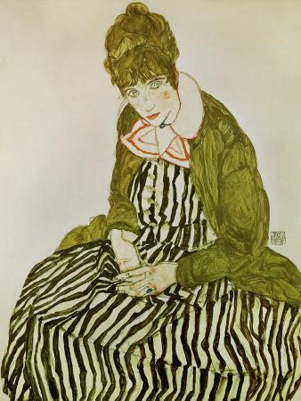 Edith Schiele, the Artist's Wife, Seated, 1915