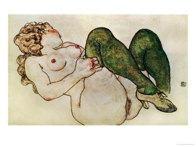 Nude with Green Stockings, 1918