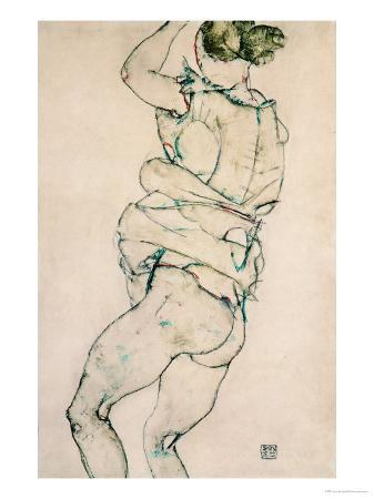 Standing Semi-Nude with Raised Left Arm, 1914