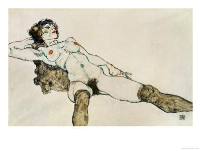 Reclining Female Nude with Legs Spread, 1914