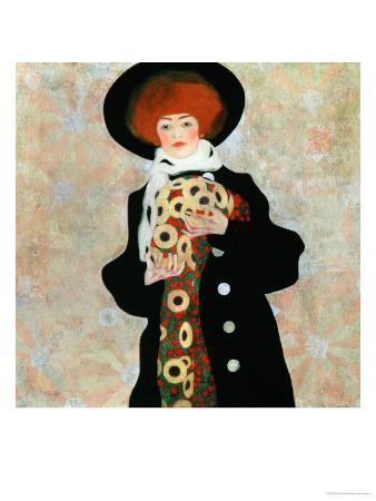 Portrait of a Woman with Black Hat (Gertrude Schiele), 1909