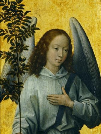 Angel Holding an Olive Branch, Symbol of Divine Peace