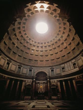 The Pantheon in Rome, Erected in 17 BCE by the Roman General Marcus Agrippa (64BCE-12 CE)