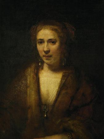 Portrait of Hendrijke Stoffels, 1655