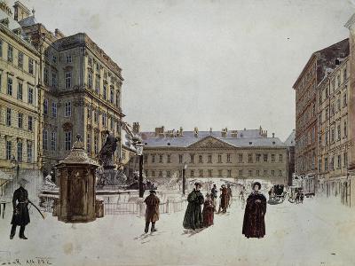 Der Neue Markt, the New Market, Vienna, Watercolour; 1832
