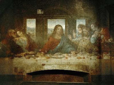 Last Supper, Detail of Christ with Apostles, 1498