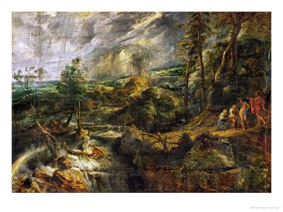 Landscape in a Thunderstorm, Philemon and Baucis, Jupiter and Mercury, circa 1620