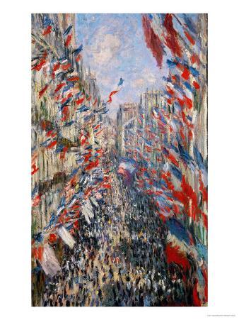 La Rue Montorgeuil, Paris, During the Celebrations of June 30, 1878