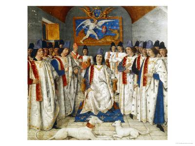 Louis Xi Presiding Over a Meeting of the Order Os Saint Michel
