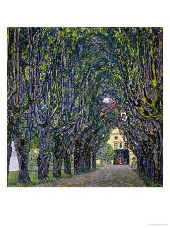 Tree-Lined Road Leading to the Manor House at Kammer, Upper Austria, 1912