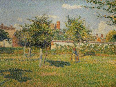 Morning Sun, Autumn, a Woman in an Orchard, Eragny, 1887