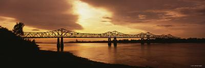 Bridge Across a River, Mississippi River, Natchez, Mississippi, USA