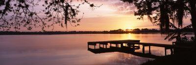 Sunrise, Lake Whippoorwill, Koa Campground, Orlando, Florida, USA