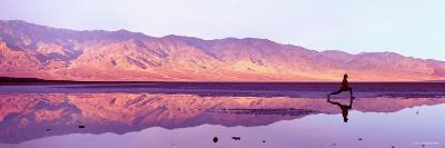 Woman Jogging, Death Valley National Park, California, USA