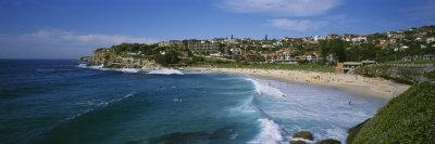 Group of People on the Beach, Coogee Beach, Sydney, New South Wales, Australia