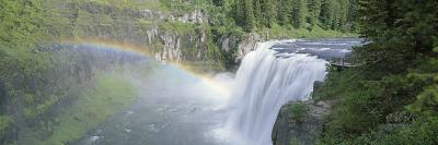 Rainbow over a Waterfall, Upper Mesa Falls, Targhee National Forest, Idaho, USA
