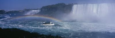Tourboat near Waterfalls, Niagara Falls, Ontario, Canada