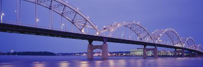 Bridge over a River, Centennial Bridge, Davenport, Iowa, USA