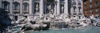 Fountain in Front of a Building, Trevi Fountain, Rome, Italy