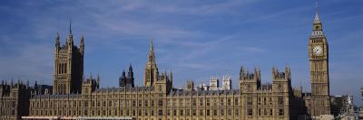 Blue Sky over a Building, Big Ben and the Houses of Parliament, London, England