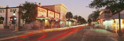 Sloppy Joe's Bar Illuminated at Night, Duval Street, Key West, Florida, USA