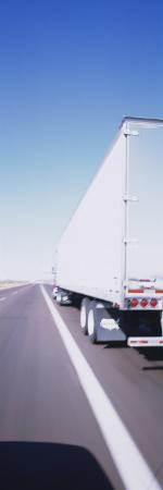 Semi-Truck on a Highway