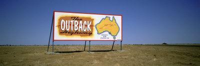 Billboard on a Landscape, Outback, Australia