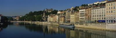 Buildings on the Waterfront, Saone River, Lyon, France