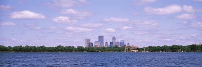 Skyscrapers, Chain of Lakes Park, Minneapolis, Minnesota, USA