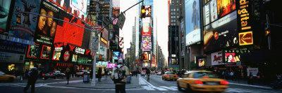 Traffic on a Road, Times Square, New York, USA