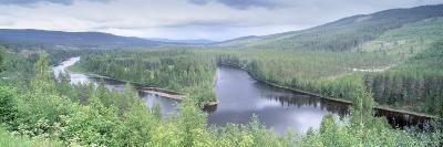 River Passing through a Landscape, Dalalven River, Dalarna, Sweden