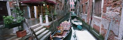 Gondolas in a Canal, Grand Canal, Venice, Italy