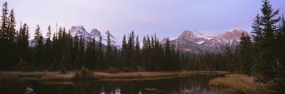 Lake in a Forest, Three Sister's Mountain, Mt. Lawrence Grassi, Bow Valley, Alberta, Canada