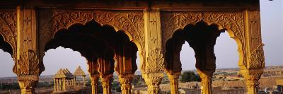 Monuments at a Place of Burial, Jaisalmer, Rajasthan, India