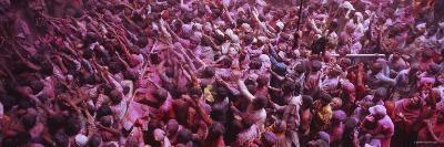 People Celebrating Holi, Braj, Mathura, Uttar Pradesh, India