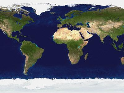 The Blue Marble: Land Surface, Ocean Color and Sea Ice
