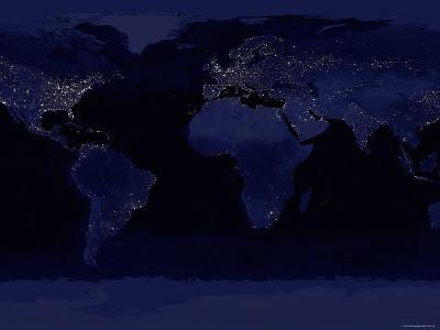 October 23, 2000, Global View of Earth's City Lights