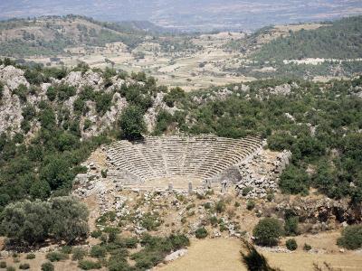 Greek Style Theatre at Lycian City of Pinara, Near Kemer, Mugla Province, Anatolia, Turkey