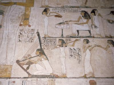 Wall Paintings in the Tomb of Rehunire (Rekhmire), Valley of the Nobles, Thebes, Egypt