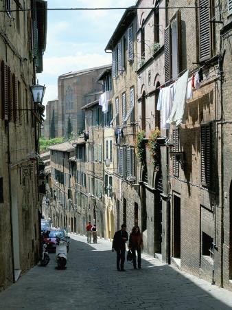 Via San Caterino, off Costa San Antonio, in Oca District of Siena, Tuscany, Italy