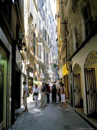 Via San Luca, in Old City of Genoa (Genova), Liguria, Italy