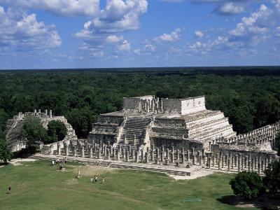 Temple of the Warriors, Chichen Itza, Unesco World Heritage Site, Yucatan, Mexico, North America