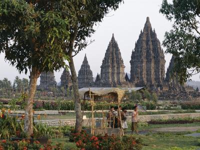 Hindu Temples at Prambanan, Unesco World Heritage Site, Island of Java, Indonesia