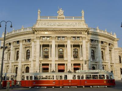 Hofburgtheatre with Tram, Vienna, Austria