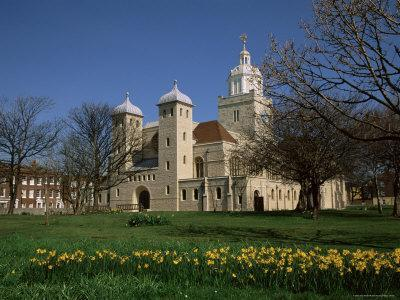 Cathedral in Spring, Old Portsmouth, Hampshire, England, United Kingdom